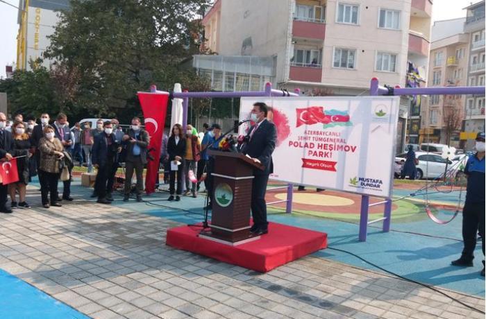 Türkiyədə general Polad Həşimovun adı verilən parkın açılışı olub - FOTO