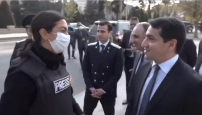 Hikmət Hacıyev Fulya Öztürkə təşəkkür etdi – VİDEO