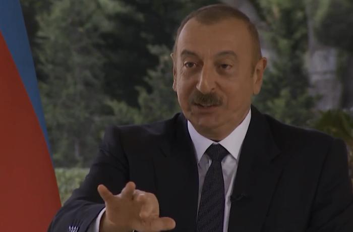 İlham Əliyev alman telekanalının qərəzli suallarına belə cavab verdi - VİDEO