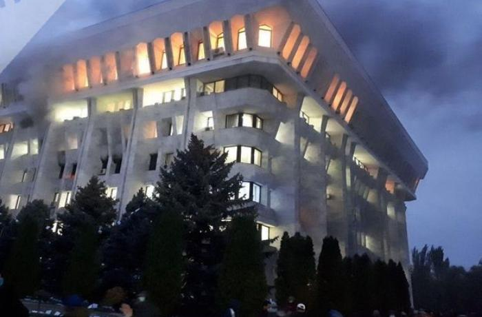 Fire breaks out in Kyrgyz parliament building - VIDEO