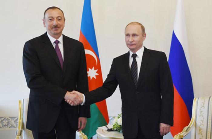 Azərbaycan Prezidenti Vladimir Putinə təbrik məktubu ünvanlayıb