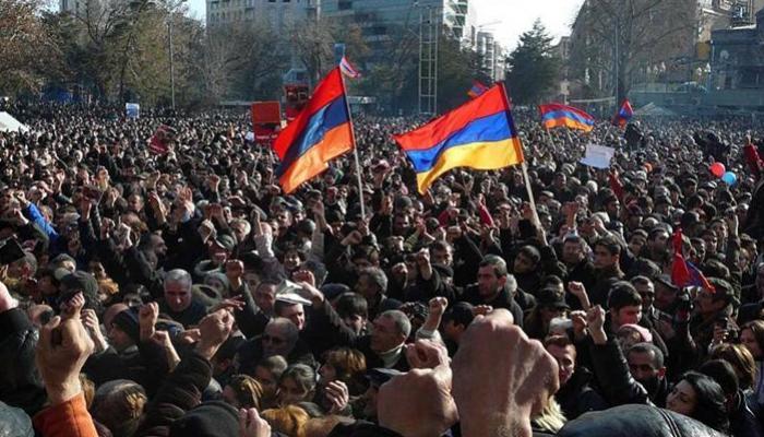 Sabah Ermənistanda böyük etiraz aksiyası keçiriləcək