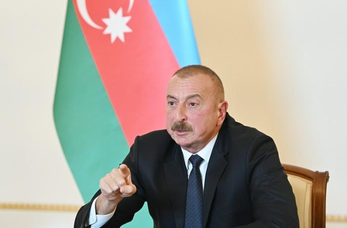 "President Ilham Aliyev: ""They have destroyed everything, as if a savage tribe had passed through"""