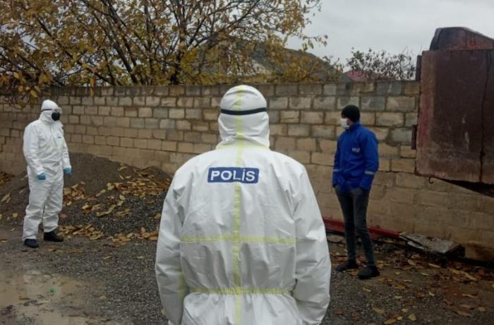Şabranda koronavirus xəstəsi evdən çıxdı, polis saxladı