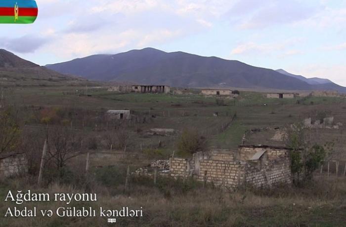 İşğaldan azad olunmuş Abdal və Gülablı kəndlərinin görüntüləri - VİDEO