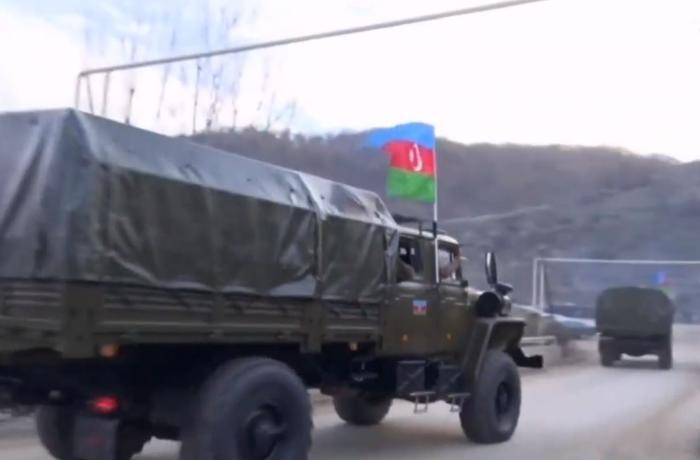 Азербайджанский флаг развевается над Кельбаджаром - ВИДЕО