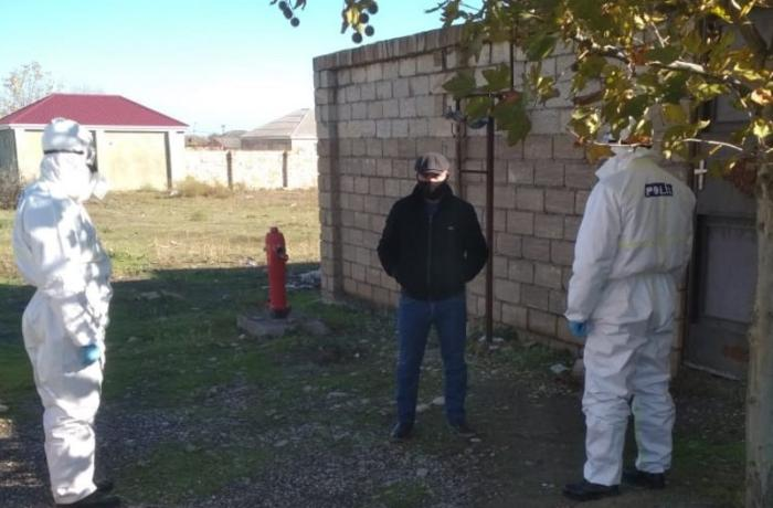 Şabranda evlərini tərk edən koronaviruslu xəstələr saxlanıldı - FOTO