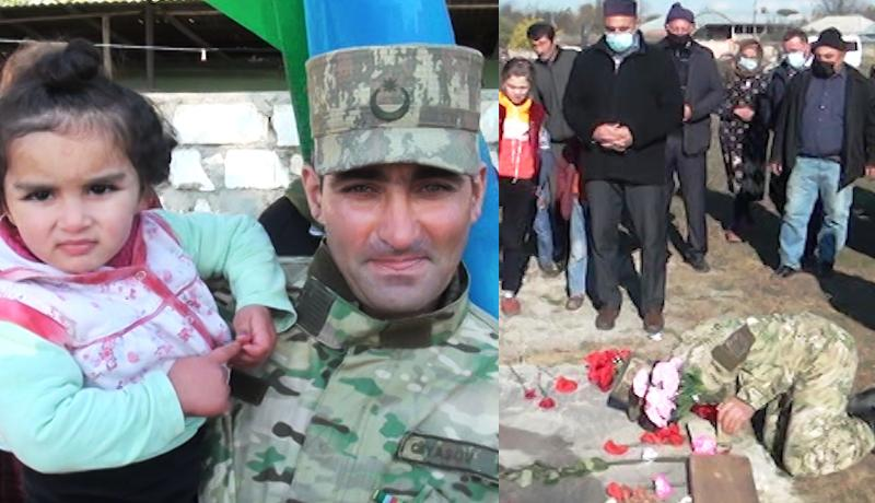 Şuşada yaralanan Qazi Famil Qiyasov ilk öncə Şəhidlərimizin məzarını ziyarət etdi - VİDEO