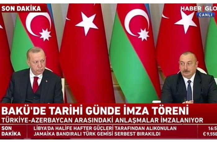 Azərbaycan və Türkiyə arasında sənədlərin imzalanma mərasimi - CANLI YAYIM