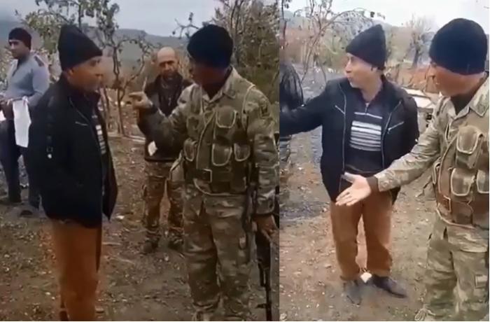 """""""Səndən mənə qardaş olmaz, sən ermənisən"""" - Azərbaycan əsgərinin erməni ilə dialoqu - VİDEO"""