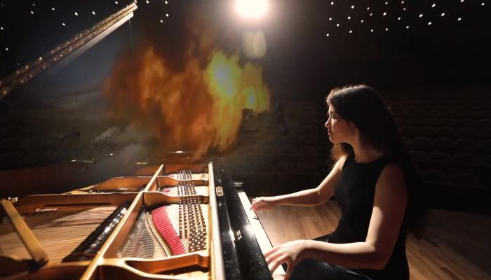 Pianoçu ifasını Vətən Müharibəsinə həsr edib - VİDEO