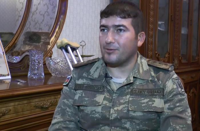 """""""Yaralı zabit yoldaşım dedi məni güllələ irəli get..."""" - VİDEO"""