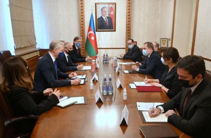 Ceyhun Bayramov BMT, Aİ və Dünya Bankının rəsmiləri ilə görüşüb - FOTO