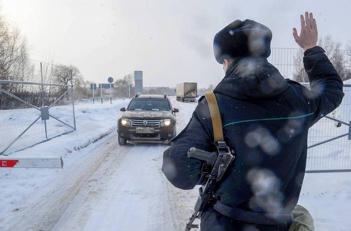 Ukrayna Rusiya sərhəddində  -