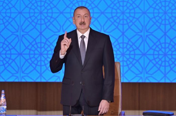"""""""Qazilərimizi tezliklə normal həyata qaytaracağıq"""" - İlham Əliyev"""