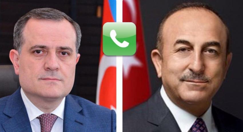 Ceyhun Bayramovun Çavuşoğlu ilə telefon danışığı oldu