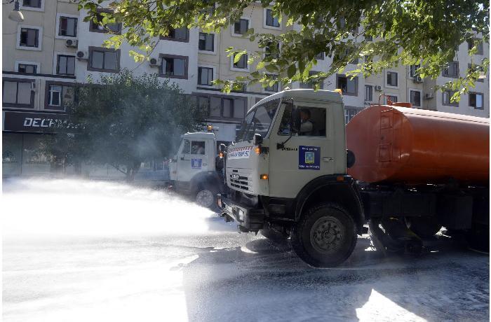 Paytaxt küçələri yenidən dezinfeksiya edilib - YENİLƏNİB