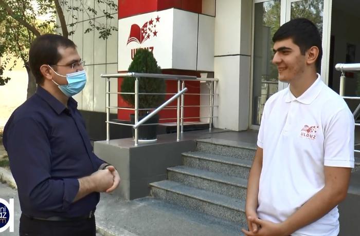 700 bal toplayan Hüseyn Abdullayev müəllimlərinə təşəkkür etdi - VİDEO