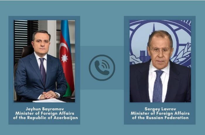 Rusiya və Azərbaycan XİN başçıları arasında telefon danışığı olub