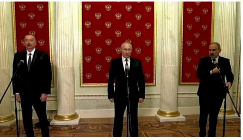 Azerbaijani President Ilham Aliyev, Russian President Vladimir Putin held bilateral meeting