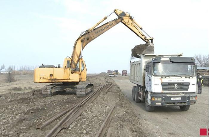 Construction of the Barda-Agdam railway launched
