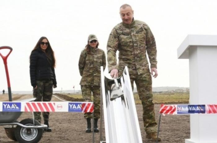 Azerbaycan Cumhurbaşkanı Aliyev, Füzuli-Şuşa karayolunun temelini attı