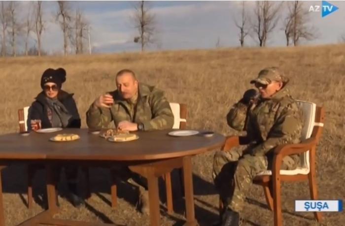 Prezident Cıdır düzündə çay içdi - VİDEO