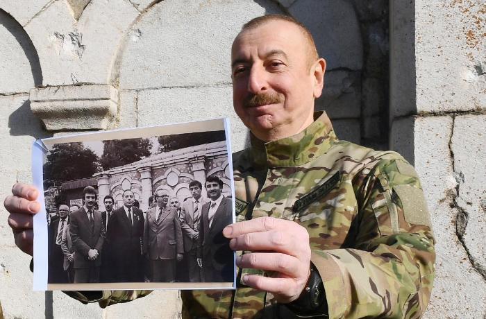 Azerbaycan`ın Cümhurbaşkanı İlham Aliyev, Azerbaycan`ın tarihi şehri Şuşa`da