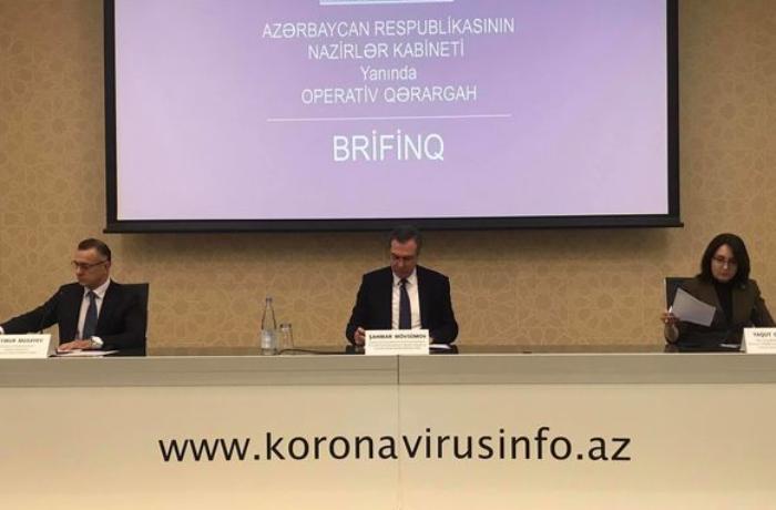 Azərbaycanda koronavirusla bağlı son vəziyyət açıqlanır - CANLI