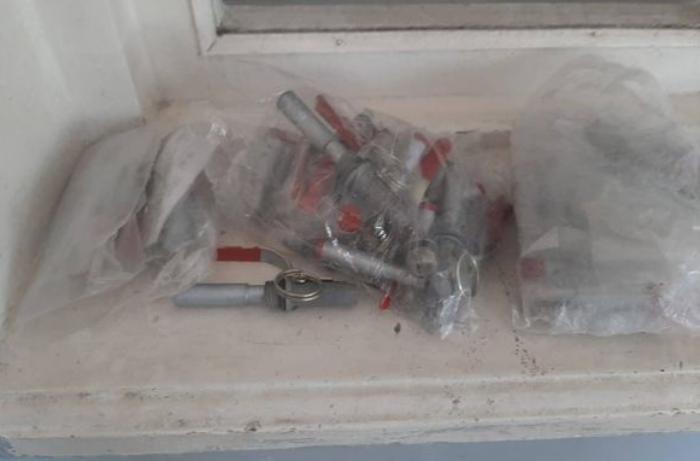 Cəbrayılda yerləşən keçmiş erməni hərbi mövqeyindən ağ fosforlu mərmi aşkarlandı - FOTO