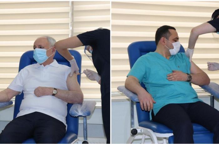 TƏBİB Oqtay Şirəliyev və Ramin Bayramlıya vaksin vurulmaması iddialarına mü ...