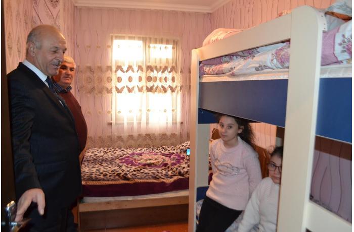 Mingəçevirdə şəhid ailəsinin evi təmir olundu - FOTOLAR