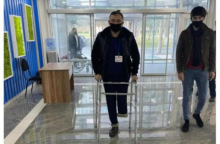 Qazi baş leytenant Mürsəlov Fərhad üçün protez hazırlanır - FOTO