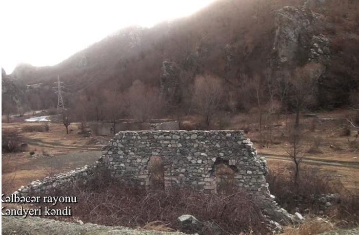 Kəlbəcər rayonunun Kəndyeri kəndindən videogörüntü