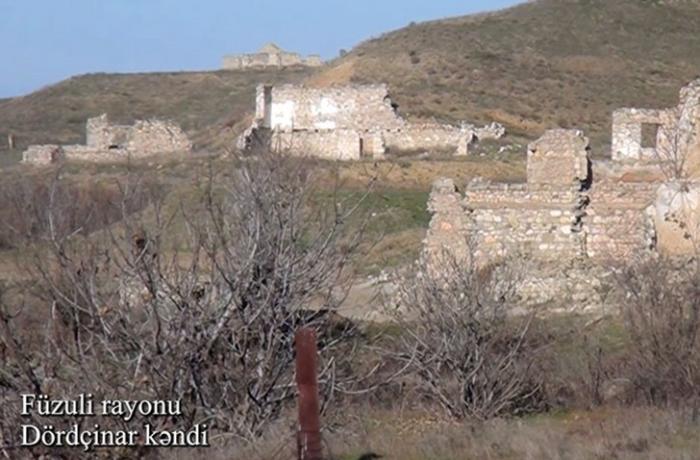 Füzulinin Dördçinar kəndindən görüntülər - VİDEO