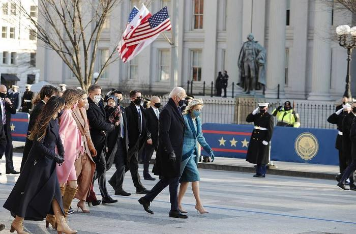 Biden arrives at White House for the first time as US President