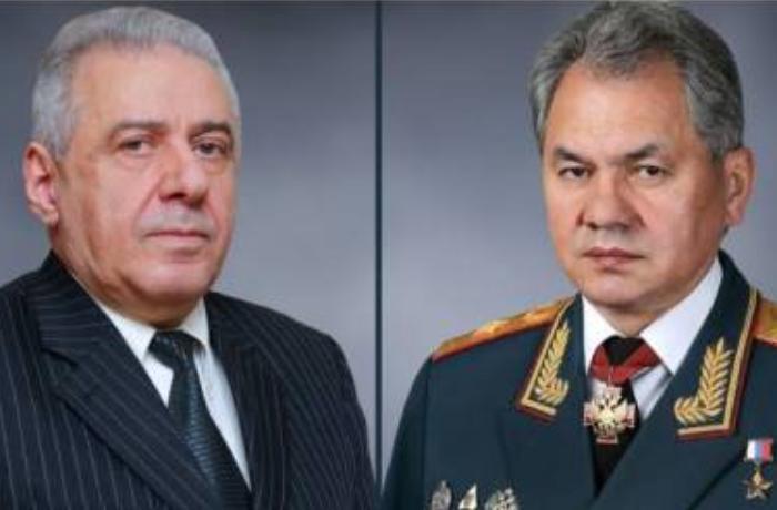 Sergey Şoyqu erməni həmkarına zəng edib
