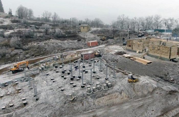 New substation under construction in Azerbaijan's Shusha city - VİDEO