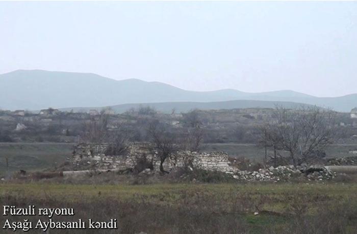 Füzuli rayonunun Aşağı Aybasanlı kəndi - VİDEO