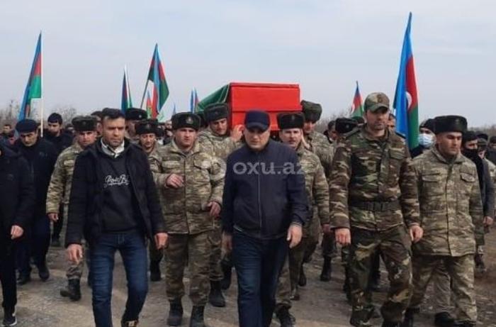 Şəhid polkovnik-leytenant dəfn edildi - FOTOLAR