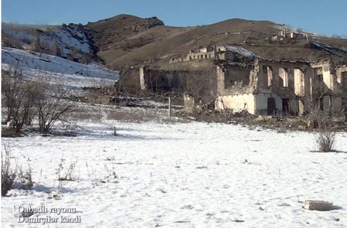Qubadlı rayonunun Dəmirçilər kəndindən görüntülər - VİDEO