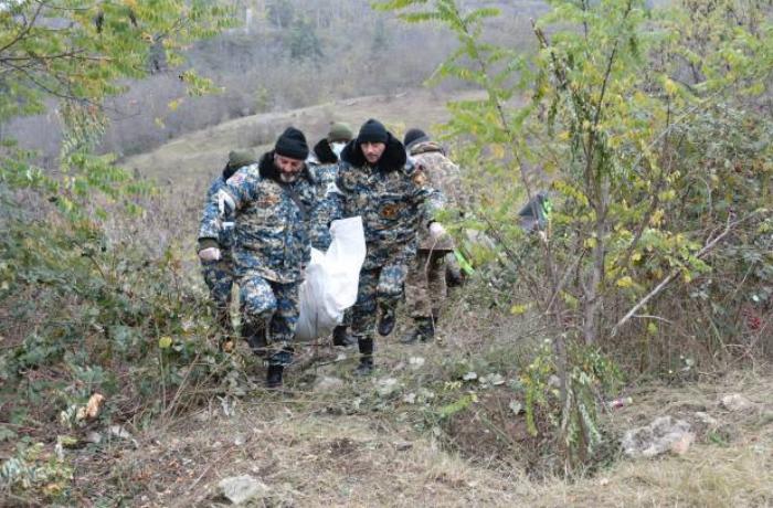 Qarabağda daha bir erməni hərbçisinin cəsədinin qalıqları tapıldı