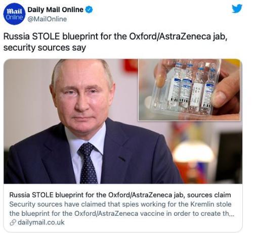 Rusya'ya şok suçlama! Aşı için İngiltere'nin bilgilerini çaldı