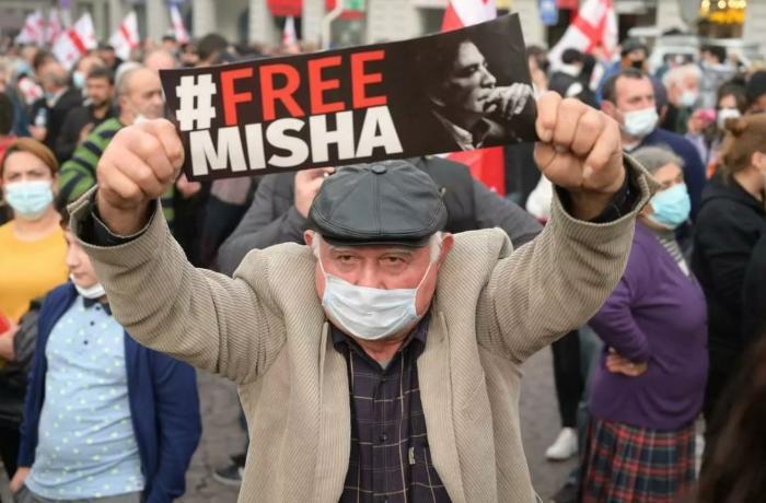 Gürcüstanda Saakaşviliyə görə mitinq keçirilir - VİDEO