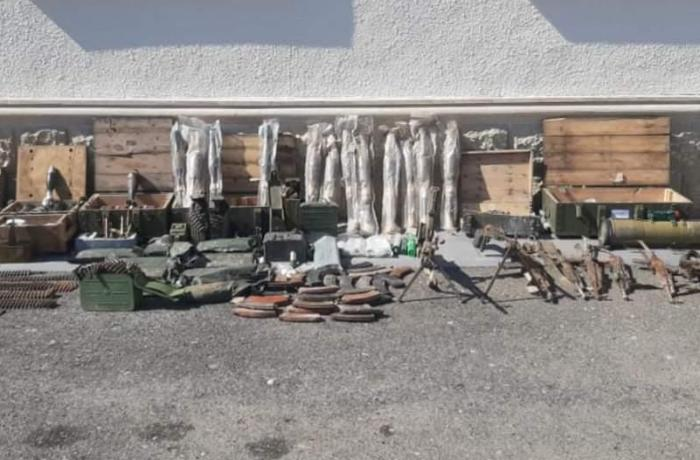 Ermənilərin Füzulidə atıb qaçdığı silah-sursatın sayı açıqlandı - FOTO