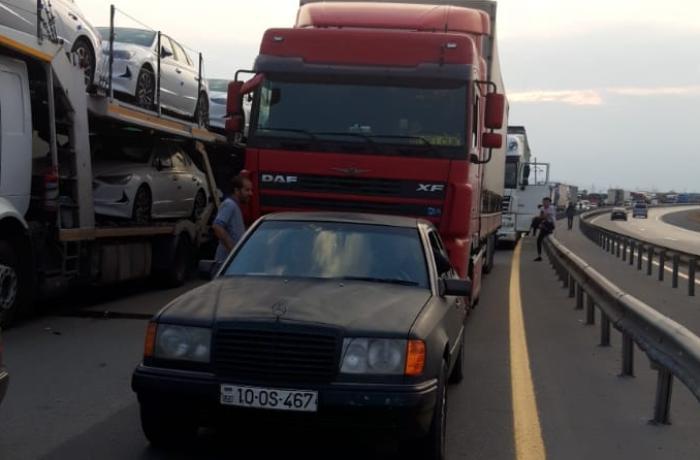 Bakı-Qazax yolunun bu hissəsi bağlandı - FOTO