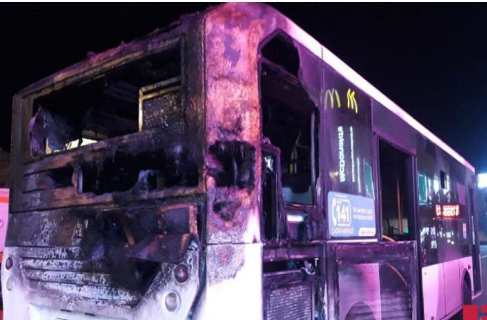 Füzulidə sərnişin avtobusu yandı