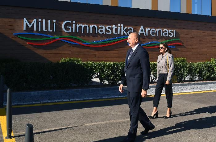 Milli Gimnastika Arenasında yeni məşq binası istifadəyə verilib - FOTOLAR
