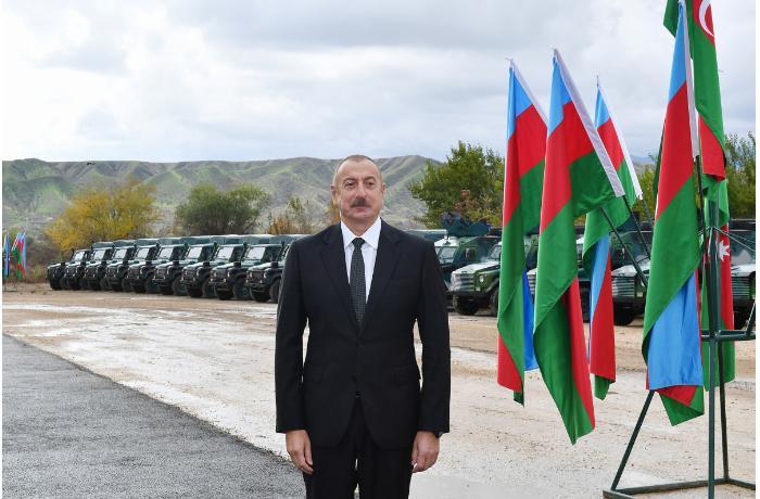 Prezident Qubadlıda DSX hərbi hissəsinin açılışında iştirak edib