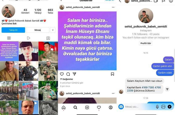 Şəhid Babək Səmidlinin adına səhifə açıb pul toplayan şəxs tutuldu - VİDEO